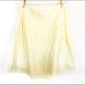 Old Navy Yellow Rose Pattern Skirt